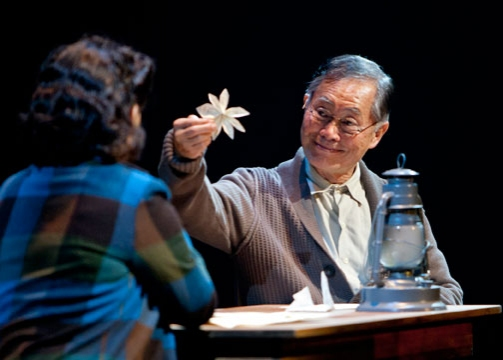 George Takei as Ojii-san in the World Premiere of Allegiance - A New American Musical, with music and lyrics by Jay Kuo and book by Marc Acito, Kuo and Lorenzo Thione, directed by Stafford Arima, Sept. 7 - Oct. 21, 2012 at The Old Globe. Photo by Henry Di