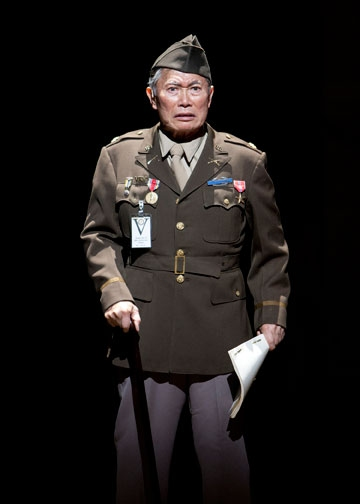 George Takei as Sam Kimura in the World Premiere of Allegiance - A New American Musical, with music and lyrics by Jay Kuo and book by Marc Acito, Kuo and Lorenzo Thione, directed by Stafford Arima, Sept. 7 - Oct. 21, 2012 at The Old Globe. Photo by Henry