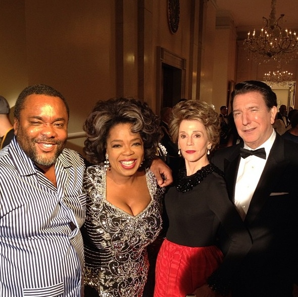 Lee Daniels, Oprah Winfrey, Jane Fonda, Alan Rickman at First Look - Winfrey, Rickman & Fonda in THE BUTLER