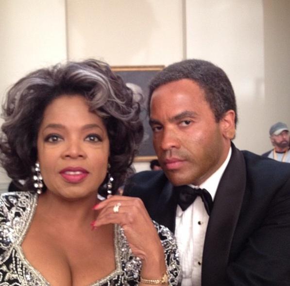 Oprah Winfrey, Lenny Kravitz at First Look - Winfrey, Rickman & Fonda in THE BUTLER