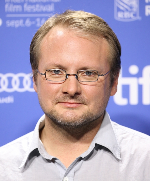 Director Rian Johnson at Bruce Willis, Joseph Gordon-Levitt at LOOPER's TIFF Photo Call