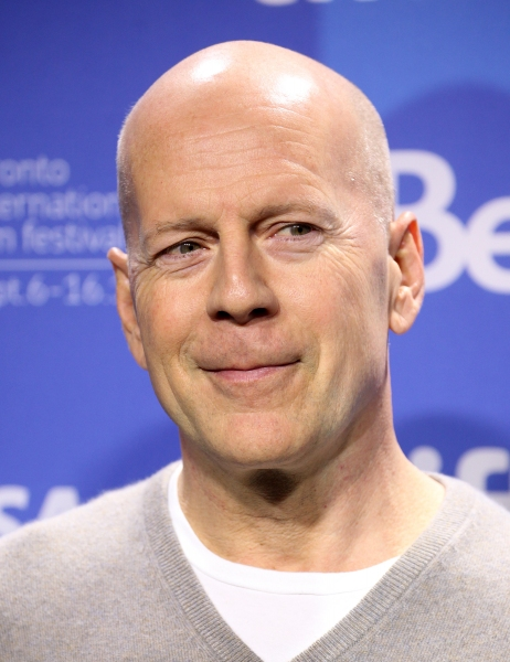 Bruce Willis at Bruce Willis, Joseph Gordon-Levitt at LOOPER's TIFF Photo Call