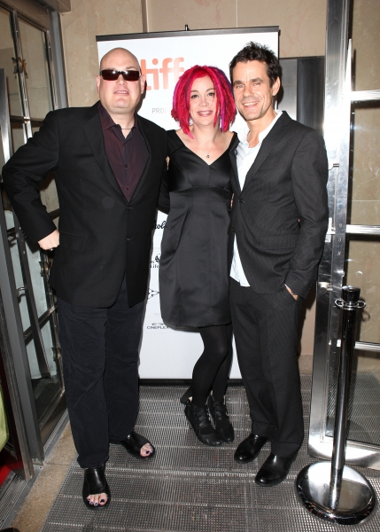 Co-directors Andy Wachowski, Lana Wachowski, and Tom Tykwer
