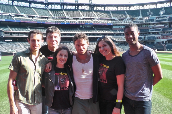 Jonathan David Martin, Jack Spann, Katy Pfaffl, Lute Breuer, Katrina Yaukey, Jude Sandy at WAR HORSE Cast Makes Appearance at Citi Field!