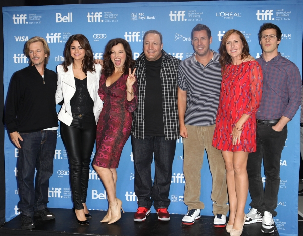 David Spade, Selena Gomez, Fran Drescher, Kevin James, Adam Sandler, Molly Shannon, & Andy Samberg at The Cast of HOTEL TRANSYLVANIA at TIFF - Fran Drescher, Adam Sandler, Andy Samberg, Selena Gomez & More!