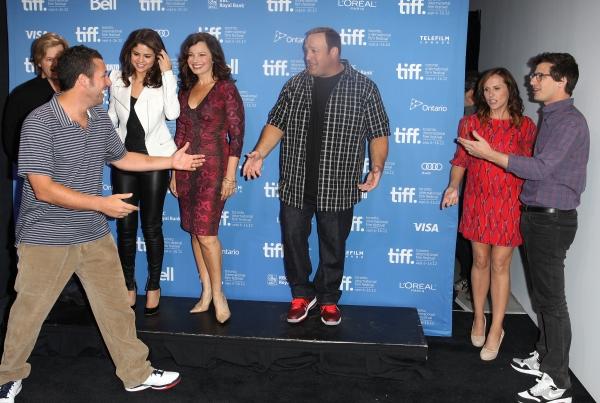 David Spade, Selena Gomez, Fran Drescher, Kevin James, Adam Sandler, Molly Shannon, & Andy Samberg