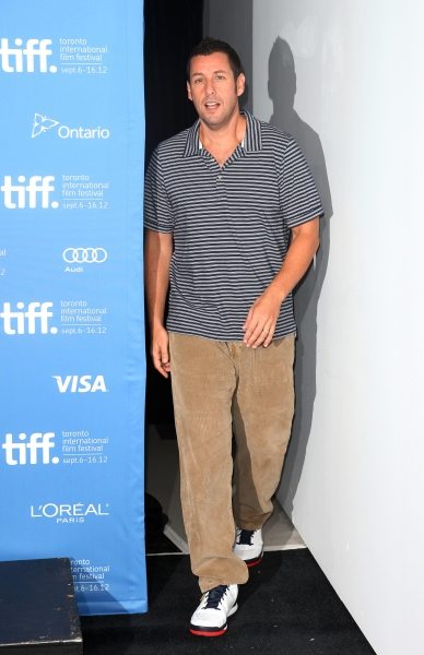 Adam Sandler  at The Cast of HOTEL TRANSYLVANIA at TIFF - Fran Drescher, Adam Sandler, Andy Samberg, Selena Gomez & More!
