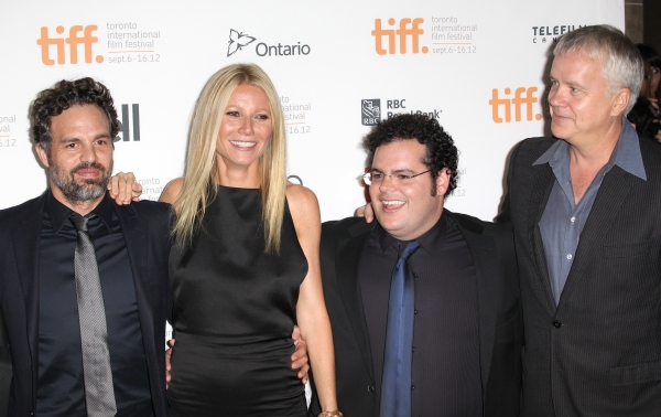 Mark Ruffalo, Gwyneth Paltrow, Josh Gad, Patrick Fugit and Tim Robbins at Josh Gad, Gwyneth Paltrow at THANKS FOR SHARING Premiere at TIFF