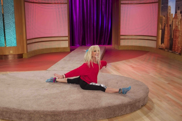 Fashion Icon BETSEY JOHNSON dropped by 'THE WENDY WILLIAMS SHOW at Betsey Johnson Visits THE WENDY WILLIAMS SHOW