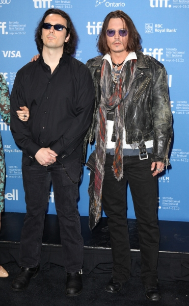 Damien Echols & Johnny Depp at Johnny Depp, and More at WEST OF MEMPHIS Photo Call at TIFF