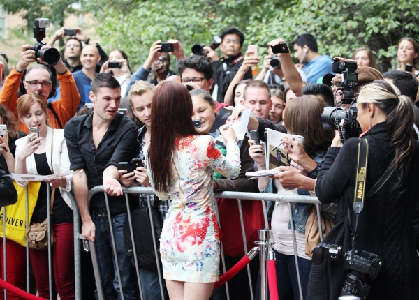 Lily Collins greets her Fans