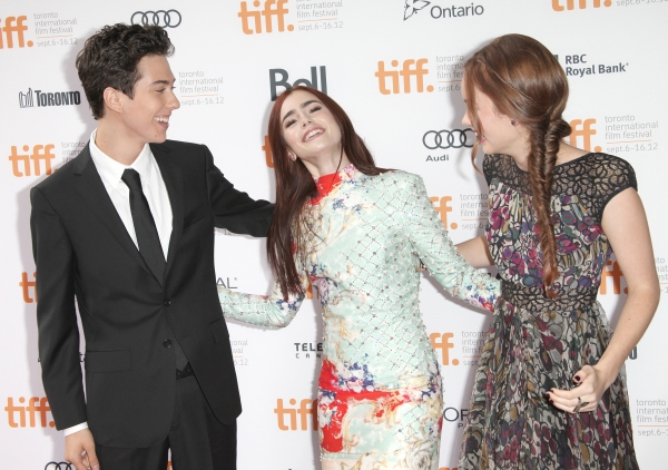Photo Coverage: Greg Kinnear, Lily Collins on WRITERS Red Carpet at TIFF