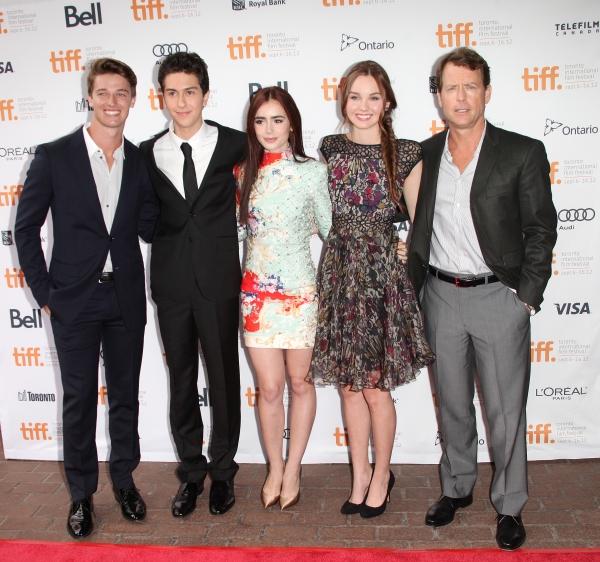 Patrick Schwarzenegger, Nat Wolff, Lily Collins, Liana Liberato and Greg Kinnear
