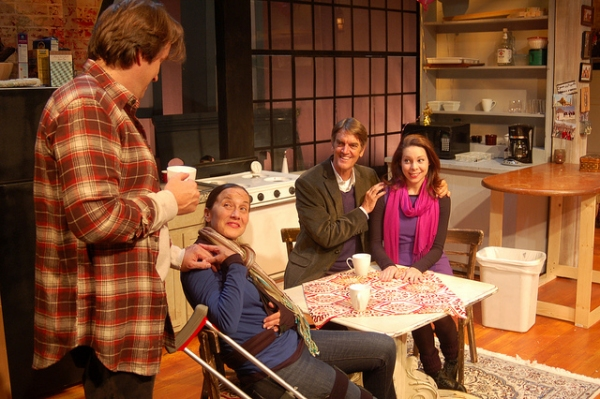 Robin Bloodworth, Carolyn Cook, Chris Kayser, Ann Marie Gideon at TIME STANDS STILL at Horizon Theatre Company