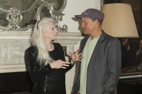Judy Collins talking with Woody Harrelson
