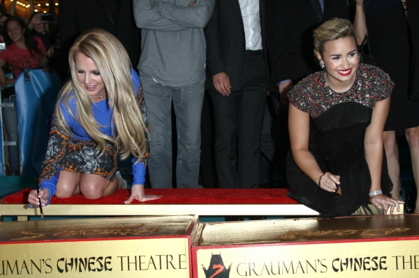 Britney Spears, Demi Lovato at X FACTOR Second Season World Premiere