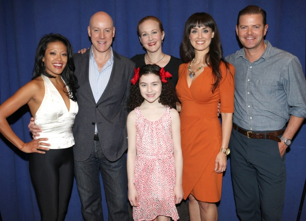 J. Elaine Marcos, Anthony Warlow, Ktie Finneran, Lilla Crawford, Brynn O'Malley & Clarke Thorell  at Cast of Broadway-Bound ANNIE Meets the Press!