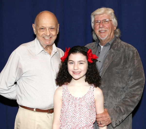 Charles Strouse, Lilla Crawford and Martin Charnin at Cast of Broadway-Bound ANNIE Meets the Press!