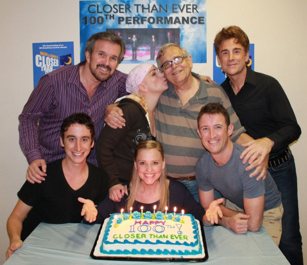 The Company: (Clockwise from Top Left) George Dvorsky, Jacquelyn Piro Donovan, Richard Maltby, Jr., Sal Viviano, Andrew Gerle, Anika Larsen and Danny Weller at York Theatre's CLOSER THAN EVER Celebrates 100th Performance!