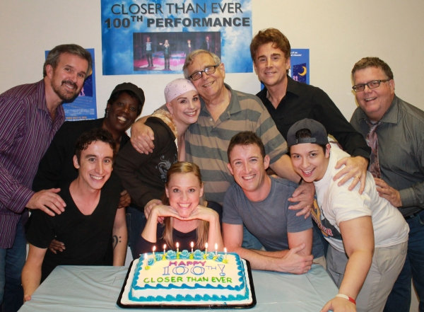 The Company: (Clockwise from Top Left) George Dvorsky, Bernita Robinson, Jacquelyn Piro Donovan, Richard Maltby, Jr., Sal Viviano, James Morgan, Niki Armato, Andrew Gerle, Anika Larsen and Danny Weller at York Theatre's CLOSER THAN EVER Celebrates 100th Performance!