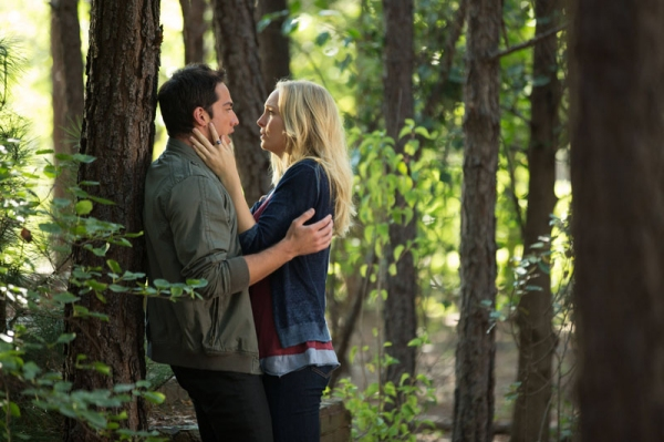 LtoR: Michael Trevino as Tyler/Klaus and Candice Accola as Caroline