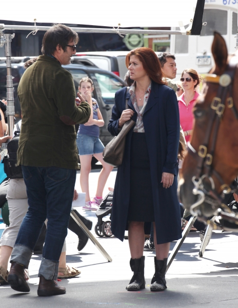Debra Messing & Jon Robin Baitz at Photo Coverage Exclusive: On the Set of SMASH with Debra Messing, Christian Borle and More!