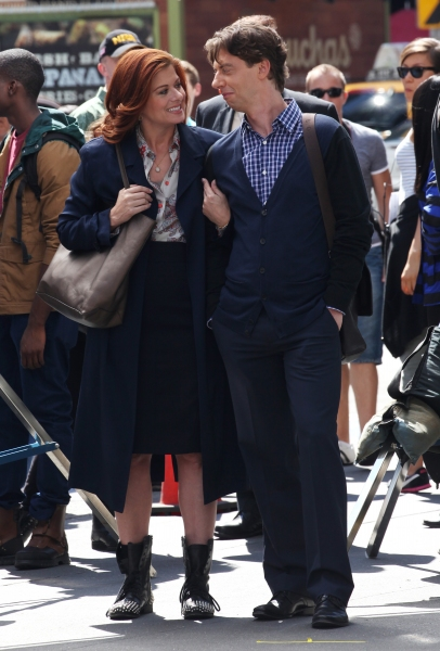 Debra Messing & Christian Borle at Photo Coverage Exclusive: On the Set of SMASH with Debra Messing, Christian Borle and More!