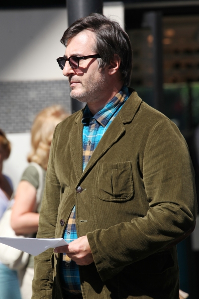 Jon Robin Baitz at Photo Coverage Exclusive: On the Set of SMASH with Debra Messing, Christian Borle and More!