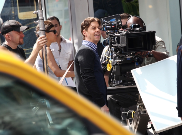 Christian Borle at Photo Coverage Exclusive: On the Set of SMASH with Debra Messing, Christian Borle and More!