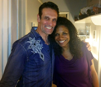 Photo Flash: Anthony Crivello Visits Audra McDonald in PORGY AND BESS