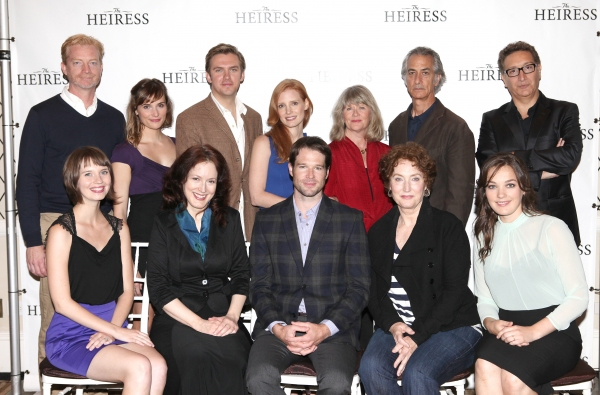 The Company: (L-R back row) Ben Livingston, Mairin Lee, Dan Stevens, Jessica Chastain, Judith Ivey, David Strathairn, Moises Kaufman (L-R front row) Molly Camp, Dee Nelson, Kieran Campion, Caitlin O'Connell and Virginia Kullattending