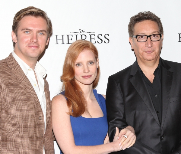 Dan Stevens, Jessica Chastain, Moises Kaufman at Jessica Chastain and THE HEIRESS Cast Meets the Press!