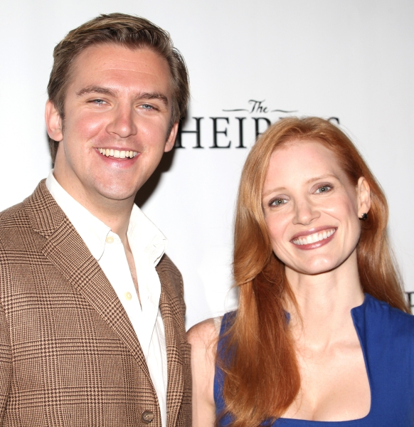 Dan Stevens & Jessica Chastain at Jessica Chastain and THE HEIRESS Cast Meets the Press!