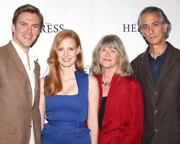 Dan Stevens, Jessica Chastain, Judith Ivey and David Strathairn at Jessica Chastain and THE HEIRESS Cast Meets the Press!