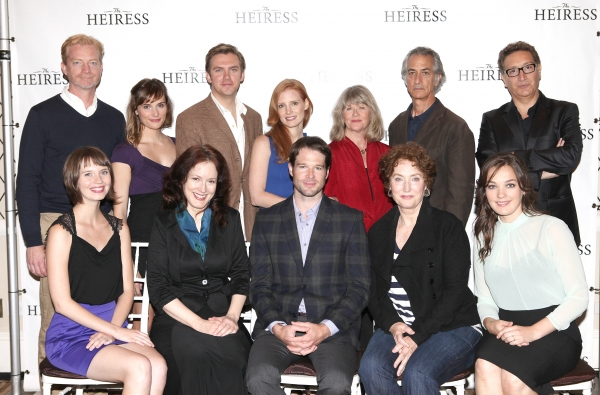 The Company: (L-R back row) Ben Livingston, Mairin Lee, Dan Stevens, Jessica Chastain, Judith Ivey, David Strathairn, Moises Kaufman (L-R front row) Molly Camp, Dee Nelson, Kieran Campion, Caitlin O'Connell and Virginia Kull