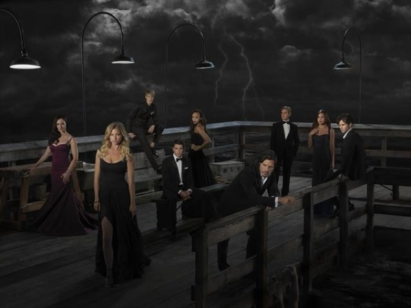 Madeleine Stowe as Victoria Grayson, Emily VanCamp as Emily Thorne, Gabriel Mann as Nolan Ross, Josh Bowman as Daniel Grayson, Ashley Madekwe as Ashley Davenport, Nick Wechsler as Jack Porter, Henry Czerny as Conrad Grayson, Christa B. Allen as Charlotte