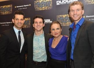 Shai Baitel with cast members Etai BenShlomo, Tovah Feldshuh, and Adam Overett at Etai BenShlomo, Tovah Feldshuh at DAMASCUS SQUARE Premiere
