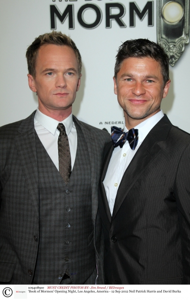 Mandatory Credit: Photo by Jim Smeal / BEImages (1094089ee)Neil Patrick Harris and David Burka'Book of Mormon' Opening Night, Los Angeles, America - 12 Sep 2012 at The Stars Come Out in LA for THE BOOK OF MORMON Opening Night Red Carpet
