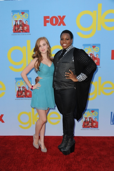 GLEE SEASON FOUR PREMIERE SCREENING AND VIP RECEPTION: Cast member Alex Newell (R) and guest arrive on the red carpet for the GLEE SEASON FOUR PREMIERE SCREENING AND VIP RECEPTION on Weds. Sept. 12 at Paramount Studios in Hollywood, CA. CR: Scott Kirklan at GLEE Season Four Premiere Red Carpet Arrivals - Lea Michele, Kate Hudson, Darren Criss and More!