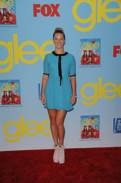 GLEE SEASON FOUR PREMIERE SCREENING AND VIP RECEPTION: Cast member Heather Morris arrives on the red carpet for the GLEE SEASON FOUR PREMIERE SCREENING AND VIP RECEPTION on Weds. Sept. 12 at Paramount Studios in Hollywood, CA. CR: Scott Kirkland/FOX at GLEE Season Four Premiere Red Carpet Arrivals - Lea Michele, Kate Hudson, Darren Criss and More!
