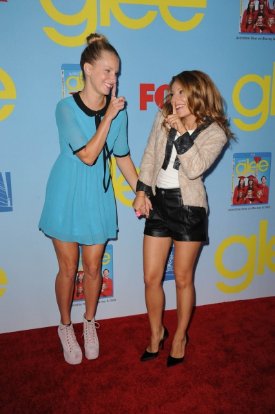GLEE SEASON FOUR PREMIERE SCREENING AND VIP RECEPTION: Cast members Heather Morris and Vanessa Lengies arrive on the red carpet for the GLEE SEASON FOUR PREMIERE SCREENING AND VIP RECEPTION on Weds. Sept. 12 at Paramount Studios in Hollywood, CA. CR: S at GLEE Season Four Premiere Red Carpet Arrivals - Lea Michele, Kate Hudson, Darren Criss and More!