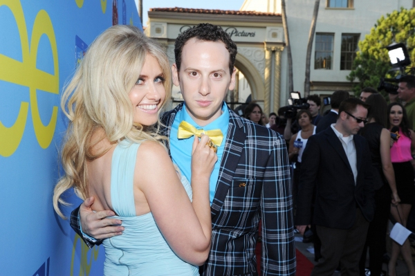 GLEE SEASON FOUR PREMIERE SCREENING AND VIP RECEPTION: Cast member Josh Sussman and guest Tess Hunt arrive on the red carpet for the GLEE SEASON FOUR PREMIERE SCREENING AND VIP RECEPTION on Weds. Sept. 12 at Paramount Studios in Hollywood, CA.  CR: Vince