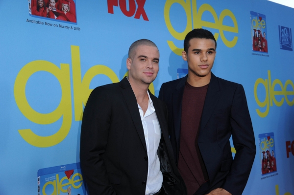 GLEE SEASON FOUR PREMIERE SCREENING AND VIP RECEPTION: Cast members Mark Salling (L) and Jacob Artist (R) arrives on the red carpet for the GLEE SEASON FOUR PREMIERE SCREENING AND VIP RECEPTION on Weds. Sept. 12 at Paramount Studios in Hollywood, CA. CR at GLEE Season Four Premiere Red Carpet Arrivals - Lea Michele, Kate Hudson, Darren Criss and More!