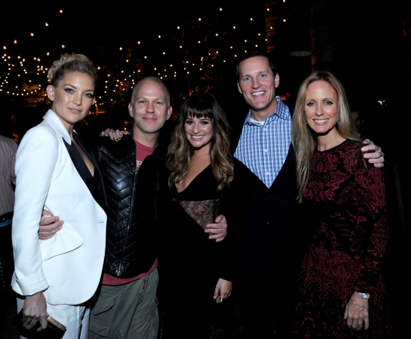 GLEE SEASON FOUR PREMIERE SCREENING AND VIP RECEPTION: GLEE cast and Creator with FOX and 20th Television executives celebrate at the GLEE SEASON FOUR PREMIERE SCREENING AND VIP RECEPTION (L-R): Kate Hudson, GLEE Creator Ryan Murphy, Lea Michele, Chief O