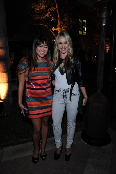 GLEE SEASON FOUR PREMIERE SCREENING AND VIP RECEPTION: GLEE cast members celebrate at the GLEE SEASON FOUR PREMIERE SCREENING AND VIP RECEPTION (L-R): Jenna Ushkowitz and Becca Tobin on Weds. Sept. 12 at Paramount Studios in Hollywood, CA. CR: Vince Bucc at GLEE Season Four Premiere Red Carpet Arrivals - Lea Michele, Kate Hudson, Darren Criss and More!