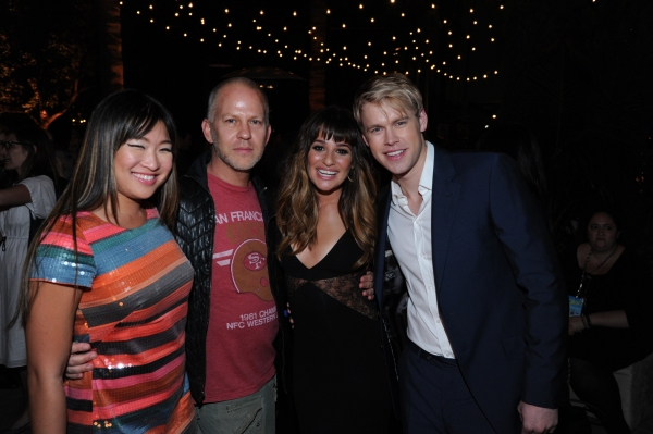 GLEE SEASON FOUR PREMIERE SCREENING AND VIP RECEPTION: GLEE Creator and Executive Producer Ryan Murphy and cast members Jenna Ushkowitz, Lea Michele and Chord Overstreet celebrate at the GLEE SEASON FOUR PREMIERE SCREENING AND VIP RECEPTION (L-R): Jenna
