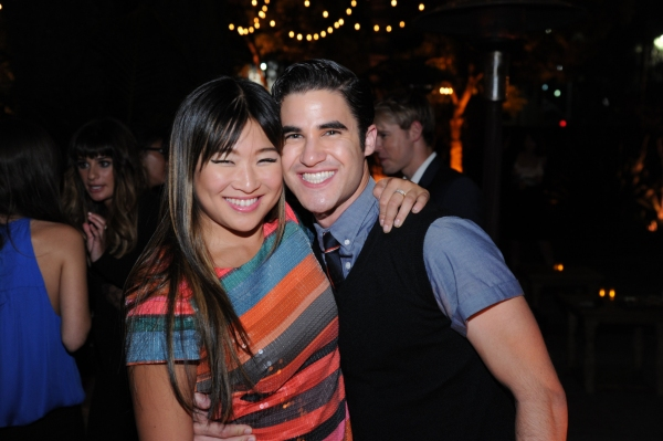 GLEE SEASON FOUR PREMIERE SCREENING AND VIP RECEPTION: GLEE cast members Jenna Ushkowitz and Darren Criss celebrate at the GLEE SEASON FOUR PREMIERE SCREENING AND VIP RECEPTION (L-R): Jenna Ushkowitz and Becca Tobin on Weds. Sept. 12 at Paramount Studios at GLEE Season Four Premiere Red Carpet Arrivals - Lea Michele, Kate Hudson, Darren Criss and More!