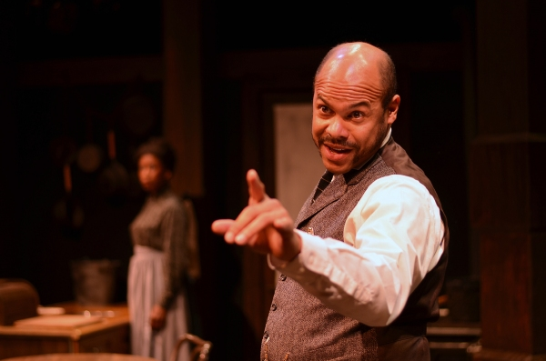 Chris Butler (110 In The Shade on Broadway, Yellowman, Stick Fly, You Can't Take It With You) as Caesar Wilks in August Wilson's Gem of the Ocean. Butler is nominated for an Ovation Award for Best Featured in a Play. Photo Credit: Ed Kriege