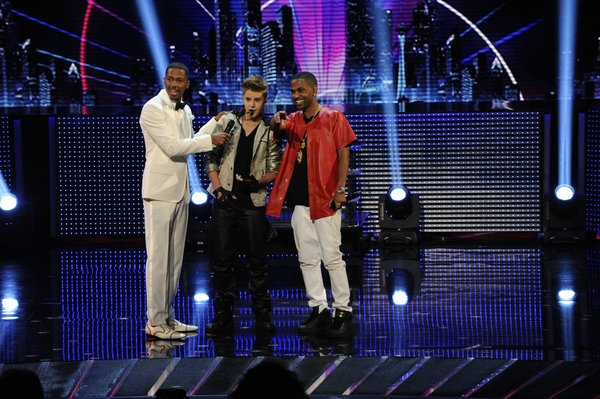 Nick Cannon, Justin Bieber, Big Sean -- (Photo by: Virginia Sherwood/NBC)