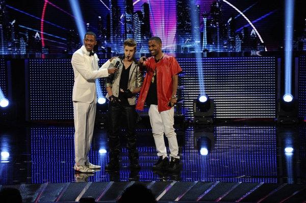 Nick Cannon, Justin Bieber, Big Sean -- (Photo by: Virginia Sherwood/NBC)